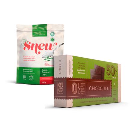 combo-adocante-natural-snew-250g-e-barra-de-chocolate-50-cacau-chocolife-1kg