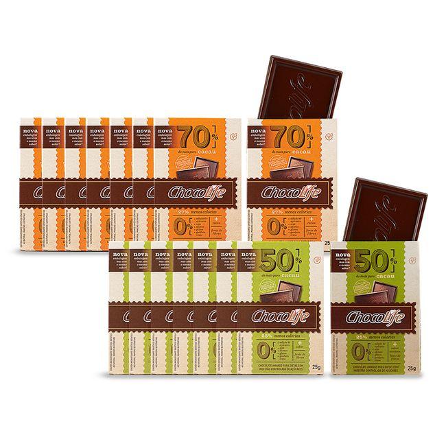 Combo-Chocolife-Classicos-50--e-70--Cacau-16-Unidades-25g