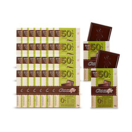 Combo-Chocolate-Zero-Acucar-Meio-Amargo-em-Tablete-50--Cacau-Chocolife-25g-30-Unidades